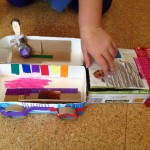 Recycle craft and wooden figures