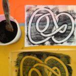 Finger paint monoprints