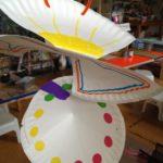 Paper plate sculpture