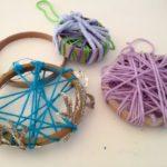 Yarn-wrapped circles