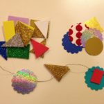 Crafting sparkly garlands