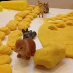 Play dough and woodland creatures
