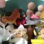 Playdough and woodland creatures
