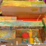 Painting the box sculpture