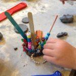 Clay at the sensory table
