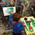 Painting with sponges