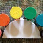 Liquid watercolor on semicircles