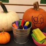 Draw and erase pumpkin art