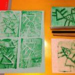 Printmaking with styrofoam