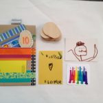 Cards and coins for the pouches