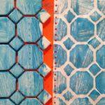 Printing with ceramic tile