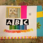 Bookmaking with collage and stickers