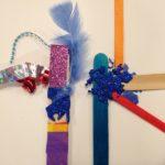 Magic wands with craft sticks