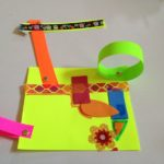 Neon paper and washi tape
