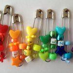 Beaded friendship pins