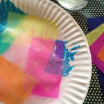 Bleeding tissue paper color mixing