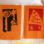 Silkscreen prints on fabric