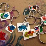 Shrinky dink keychains and charms