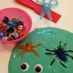 Slime with spiders and googly eyes