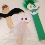 Puppets and hanging creatures