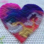 Color mixing on hearts