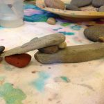 Painting with rocks and water