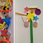Sticky paper wands or mosaics