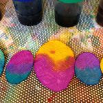 """Decorating """"eggs"""" with liquid watercolor"""