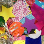 Card making with colorful paper and more